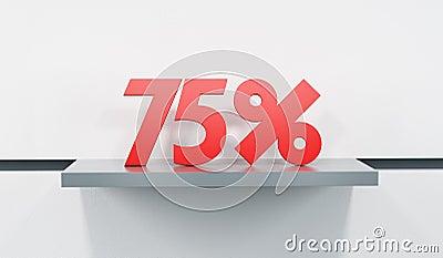 Sale at 75 percent