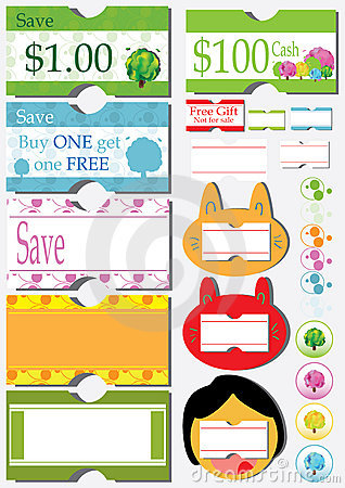 Free Sale Price Coupon Sticker_eps Stock Photos - 19414923