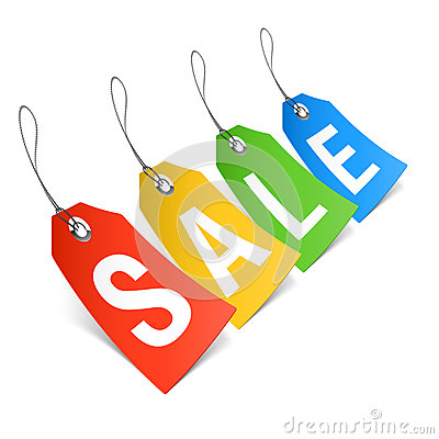 Sale, price tags Vector Illustration