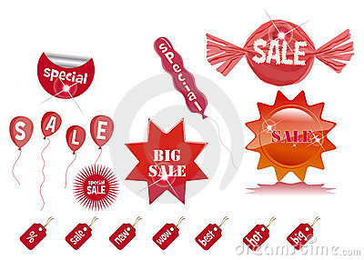 Sale prise tag labels