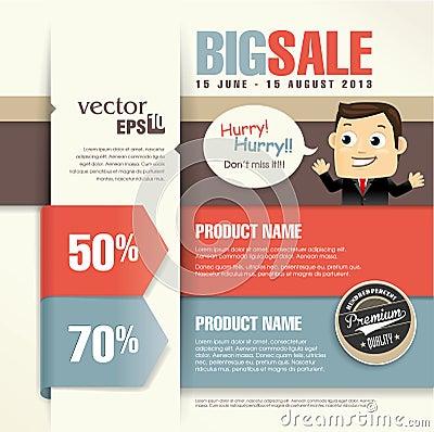 Free Sale Promotion Design Template Stock Photo - 32373540