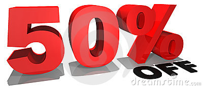 Sale promotion text 50  off