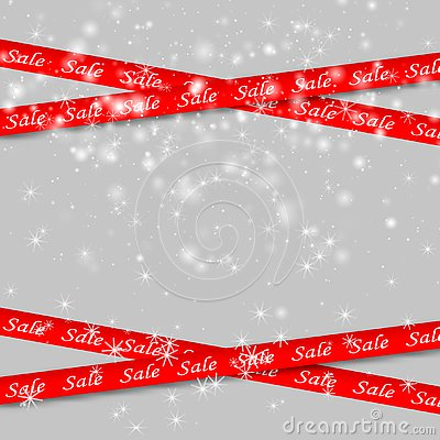 Sale red banners. Vector Illustration