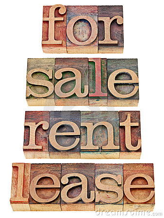 For sale, rent, lease