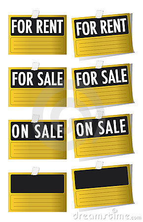 For sale and for rent signs