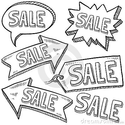 Sale retail tags and labels