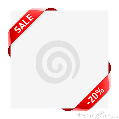 Sale ribbons