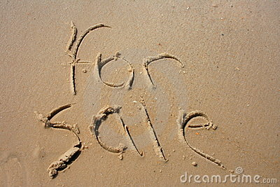 For Sale in sand
