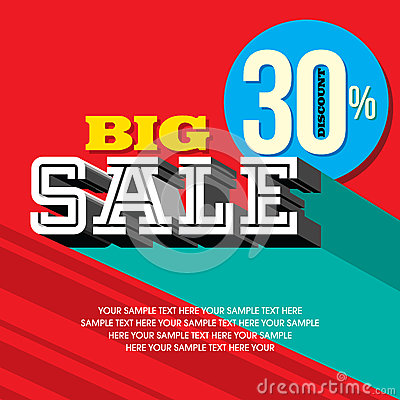 Sale shopping background and label for business promotion Vector Illustration