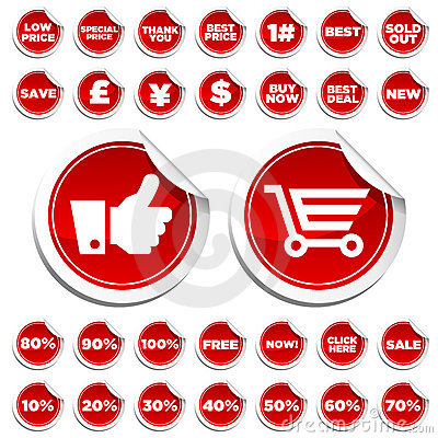 Sale and Shopping Stickers
