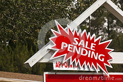 Sale Sign with Pending Notice