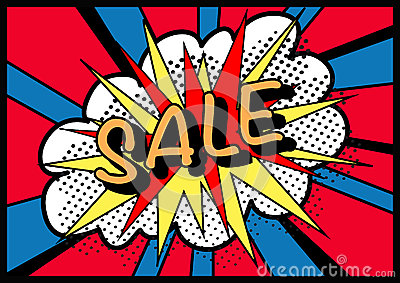 Sale sign pop art!
