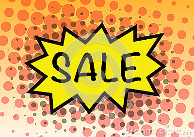 Sale sign pop art in vector