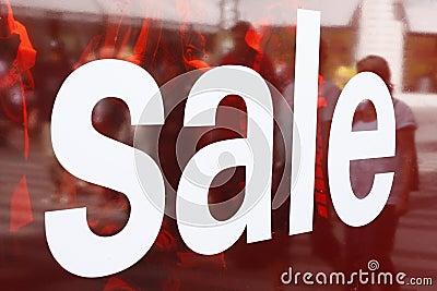 Sale sign on window