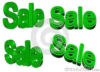 Sale signs 3D