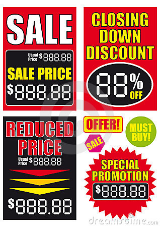 Sale signs vector illustrations