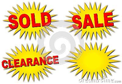 sale starbursts stock image image 6077321