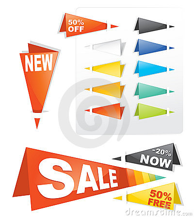 Sale tag sticker