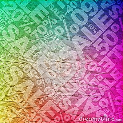 Sale typographic background