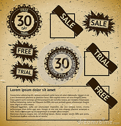 Sale vintage stamp labels