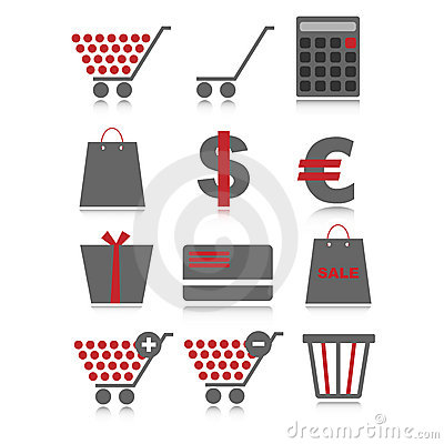 Sale web icons - grey and red
