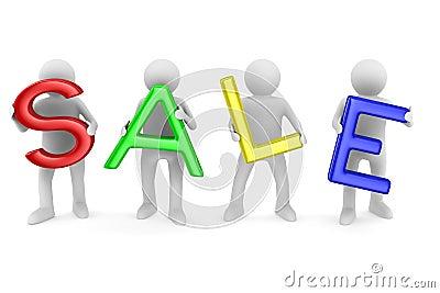 Sale on white background