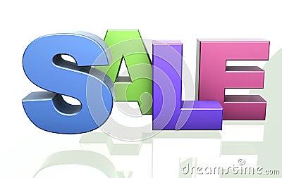 Sale word announcement concept