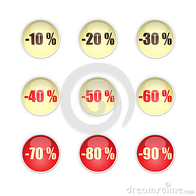 Sales buttons