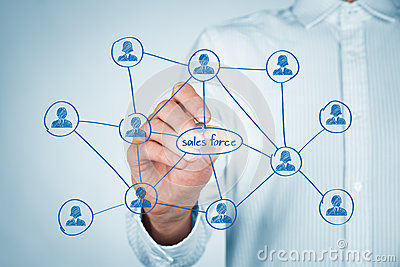 Sales force Stock Photo