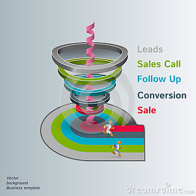 Free Sales Funnel 3d,  Graphics Stock Photography - 45479582