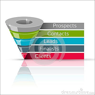 Free Sales Funnel 3d,  Graphics Stock Photo - 45723780