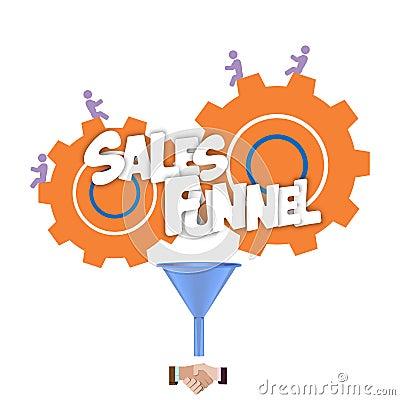 Free Sales Funnel Flat Illustration,  Graphics. Stock Photos - 47997733