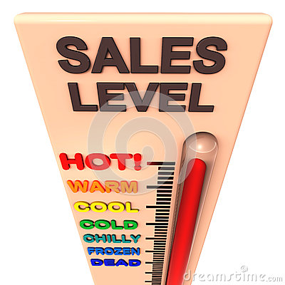 Sales - Thermometer Rising Past Great Levels Stock Images - Image ...