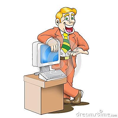Sales man cartoon