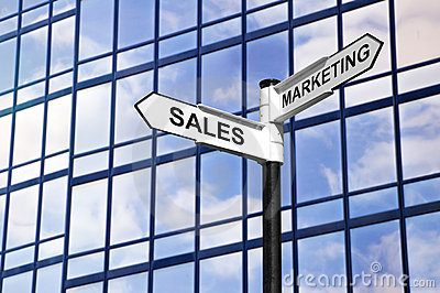 Sales & Marketing business signpost