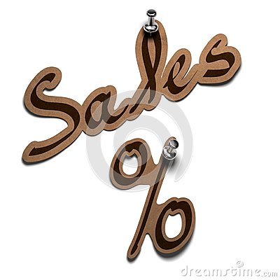 Sales and percent