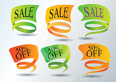 Sales Promotion stickers and web icons