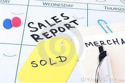 Sales report meeting