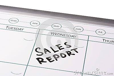 Sales report meeting