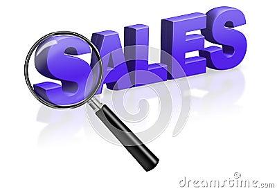 Sales shopping blue 3D button