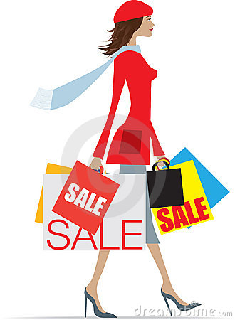 Sales Shopping Woman Stock Photos - Image: 11877143 White Daisy Flowers Clipart