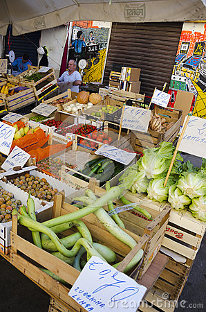 Sales Stall, Sicily Editorial Image