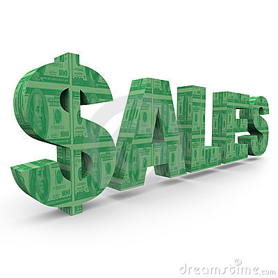 Sales - Word with Dollar Sign 1
