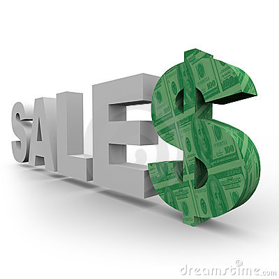 Sales - Word with Dollar Sign 2