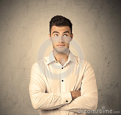 Free Sales Worker Making Face Expressions Royalty Free Stock Image - 67934196