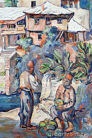 Salesman melons in the Mostar