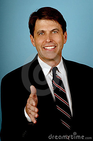 Free Salesman With A Big Smile Stock Image - 1689701