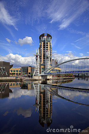 Free Salford Quays In Manchester Stock Images - 14100834