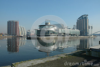 Salford Quays Manchester Editorial Stock Photo