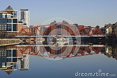 Salford Quays Zjednoczone Królestwo - Machester - Zdjęcie Editorial